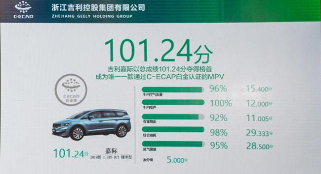 嘉际成中国首款通过C-ECAP白金生态评价的MPV